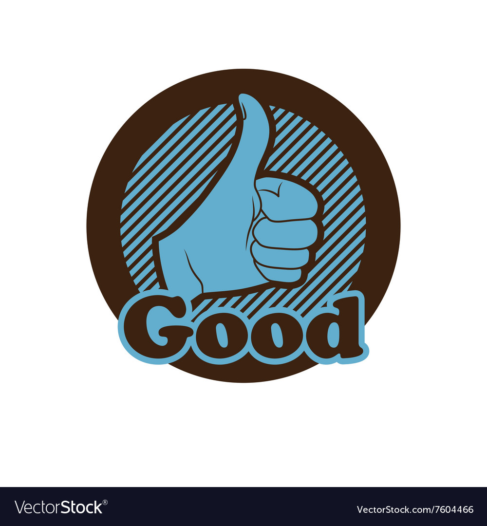 Hand showing thumbs up button