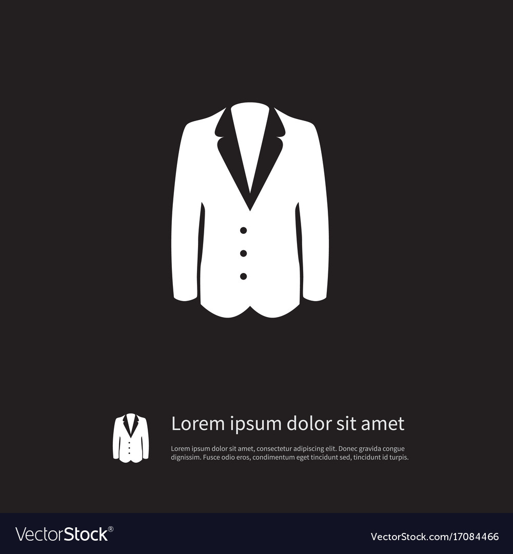 Isolated sweater icon suit element can be vector image
