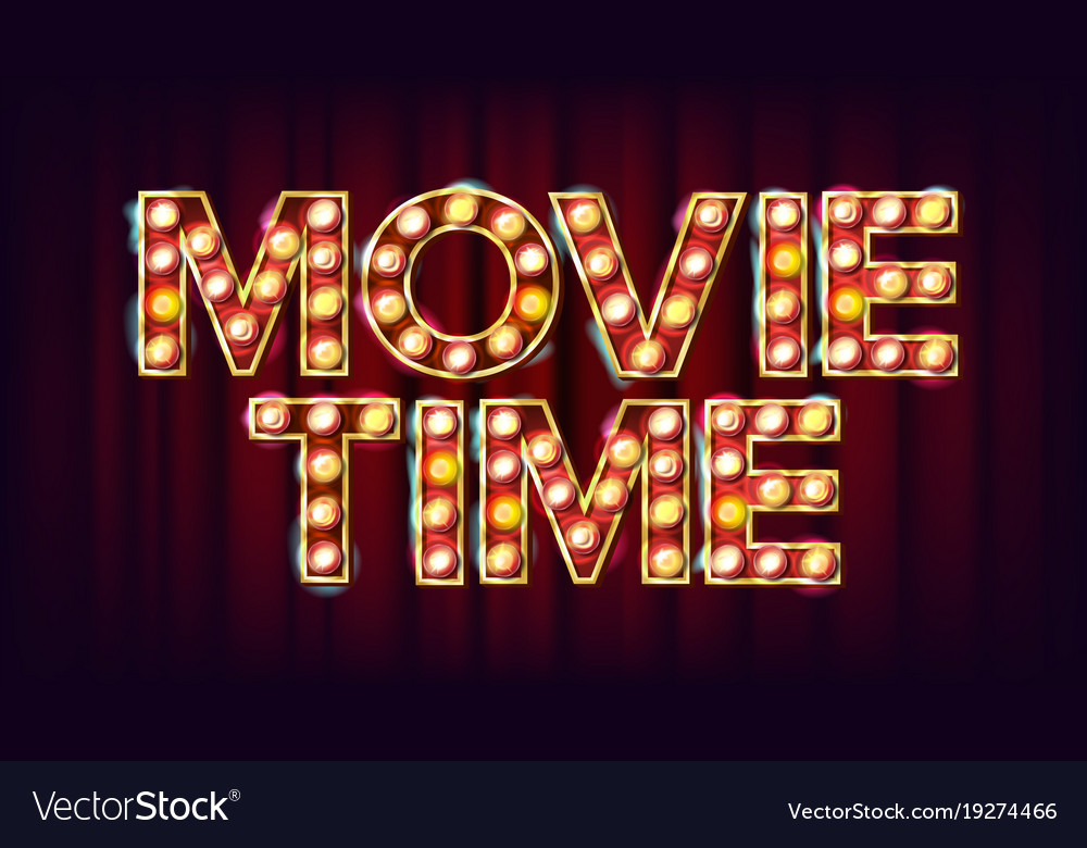Movie time neon sign Vector   Free Download