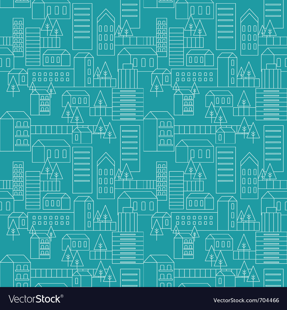 Seamless city pattern