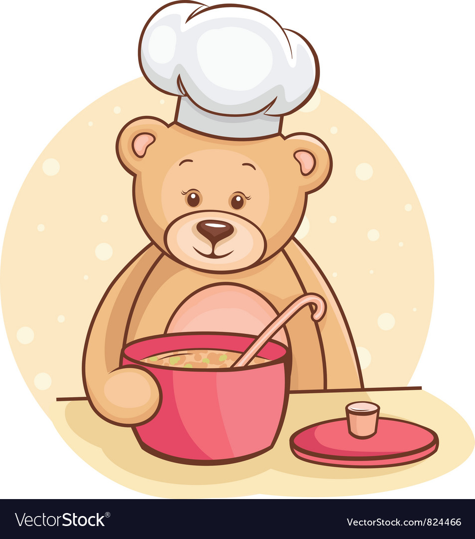 Teddy bear chef