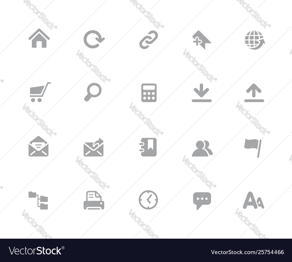 Website icons 32 pixels icons white series