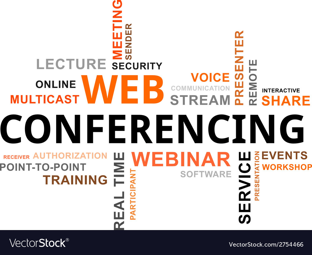 Word cloud web conferencing