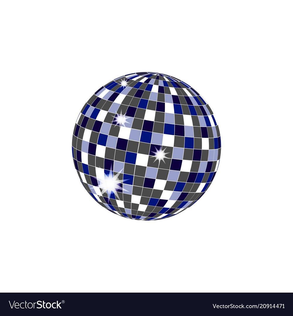 Disco ball icons vector image