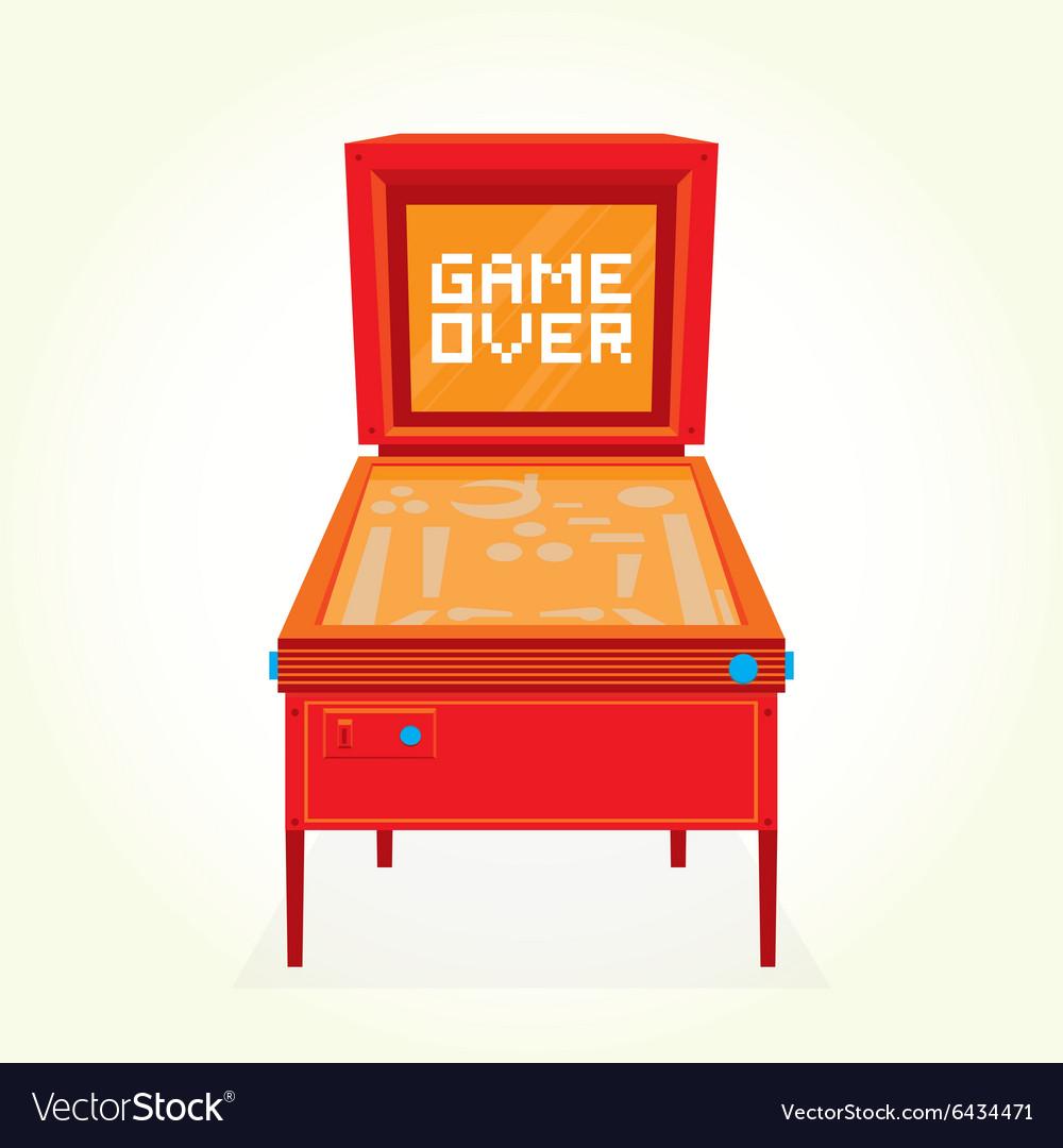 Game over retro pinball machine