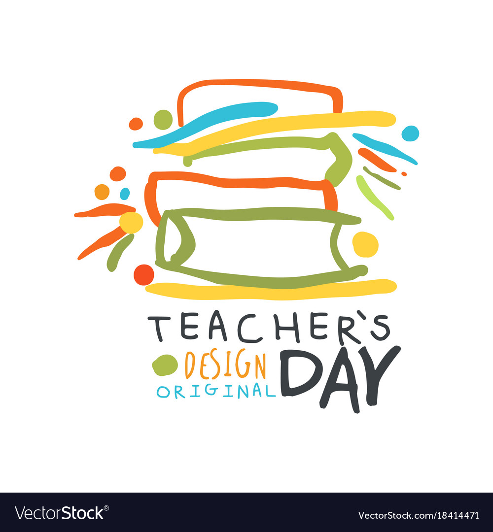 Happy teachers day greeting card with educational vector image m4hsunfo