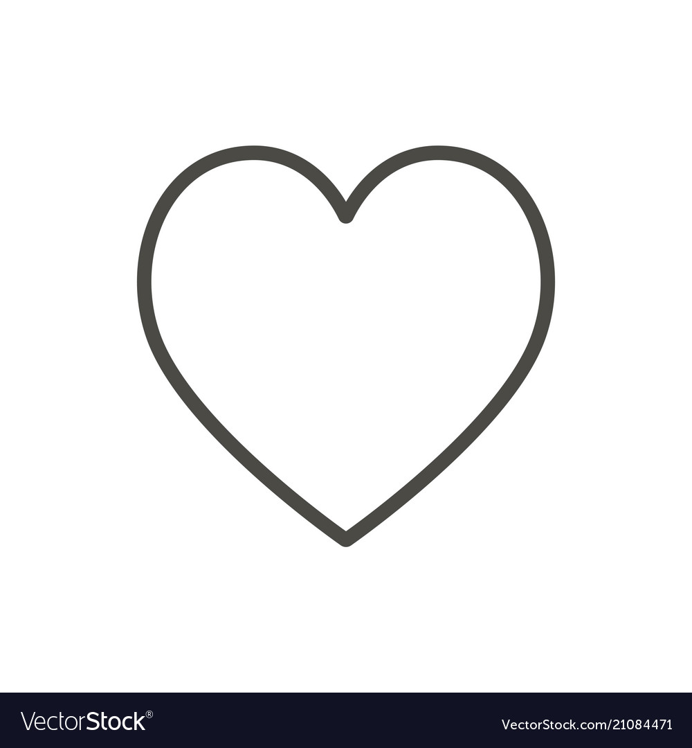 heart icon line outline love symbol royalty free vector