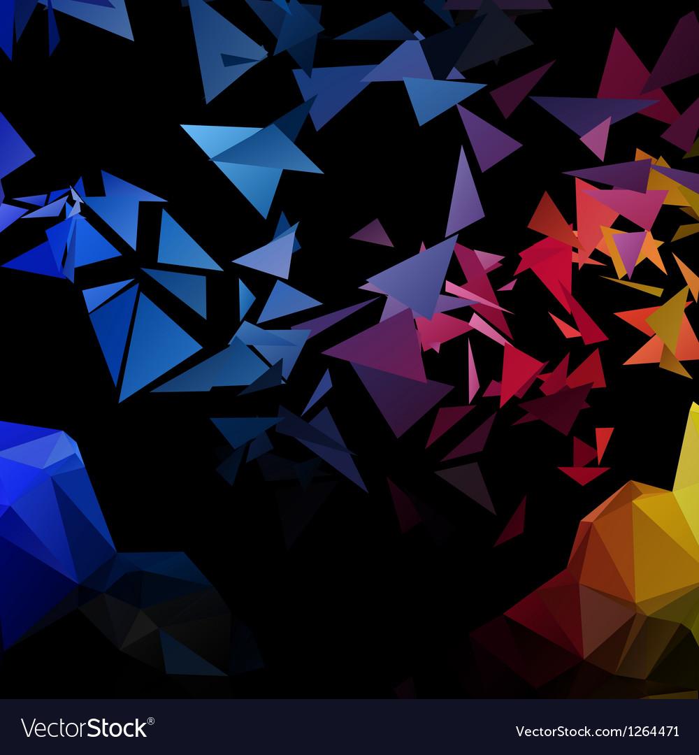 Triangles explosion background poligonal-art