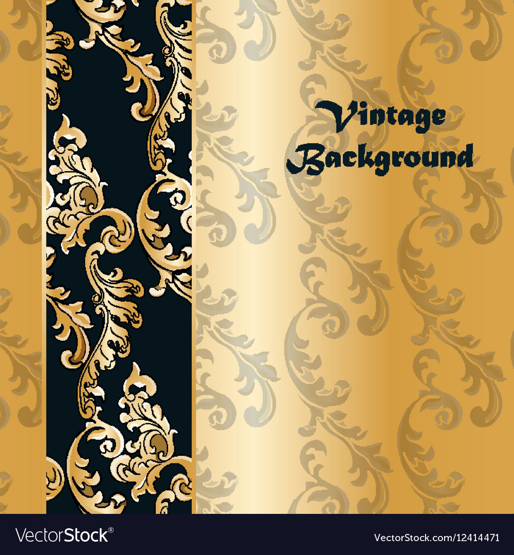 Vintage background with classic floral ornaments