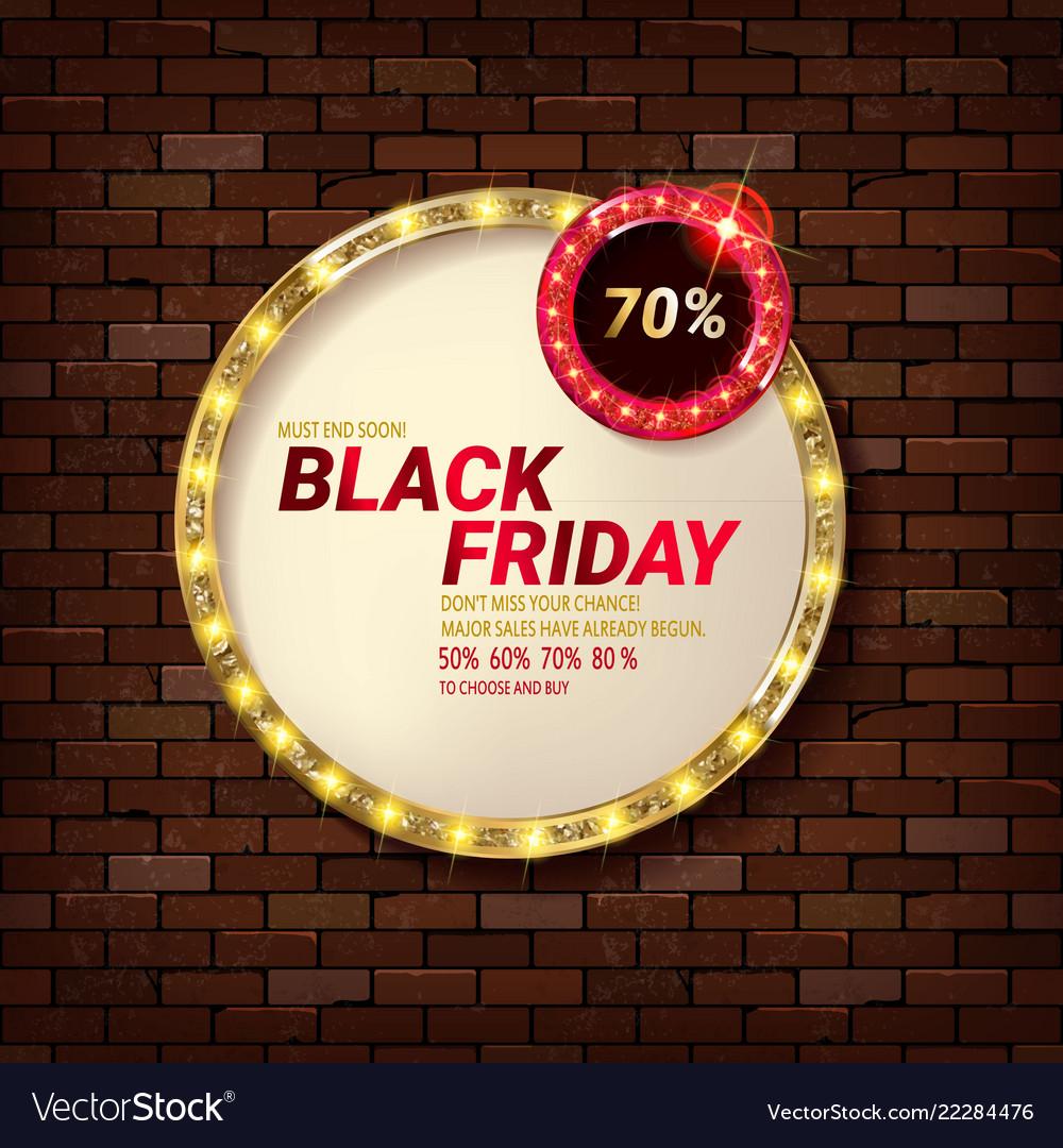 Banner for black friday