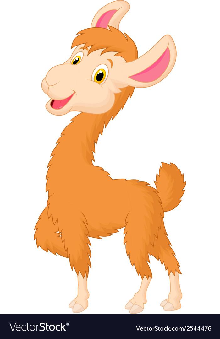 happy llama cartoon royalty free vector image - vectorstock