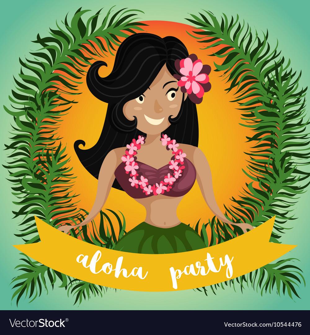 Hawaiian hula dancing girl