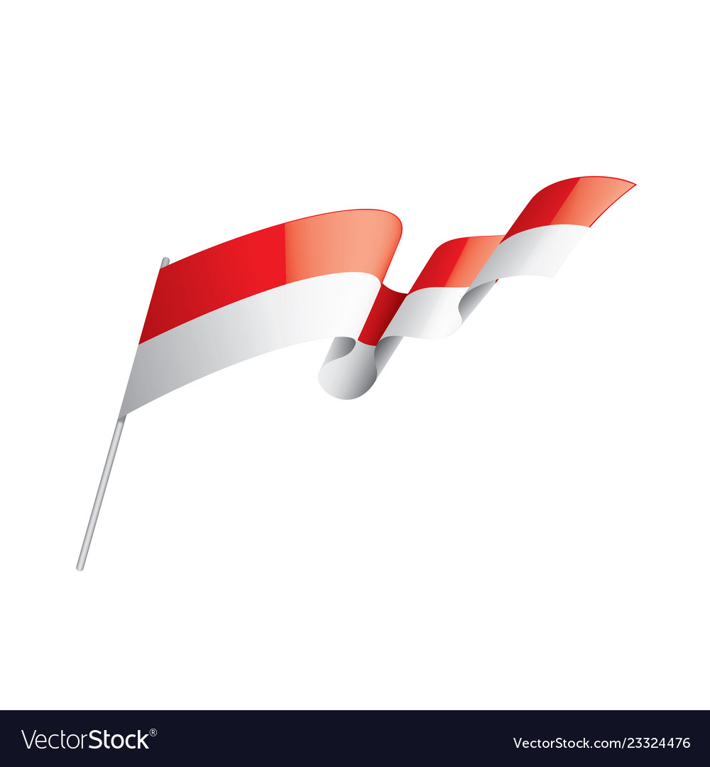 Indonesia flag on a white