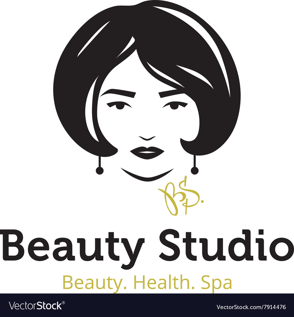Minimalistic beauty studio logo in black