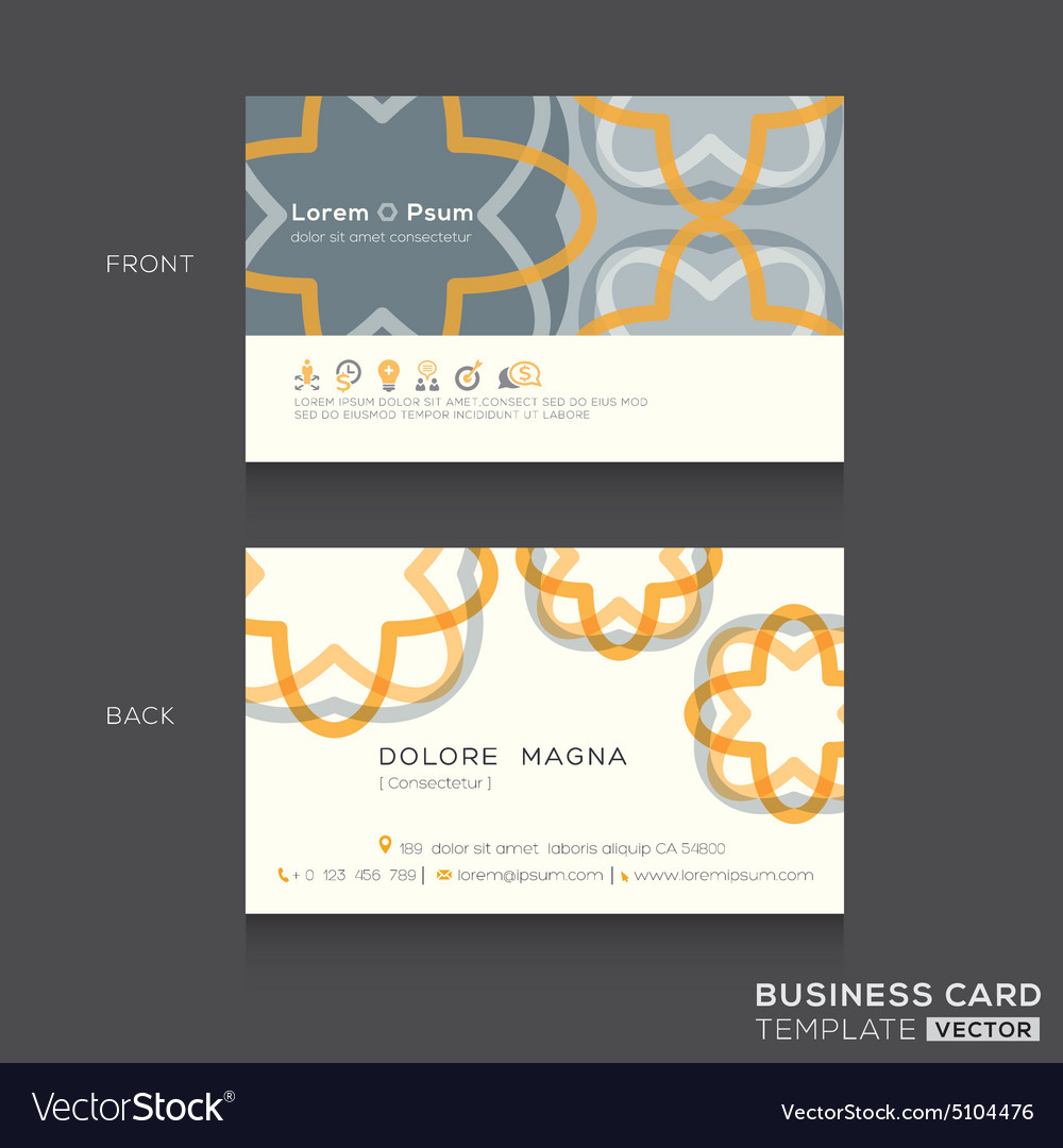 retro business cards design template royalty free vector