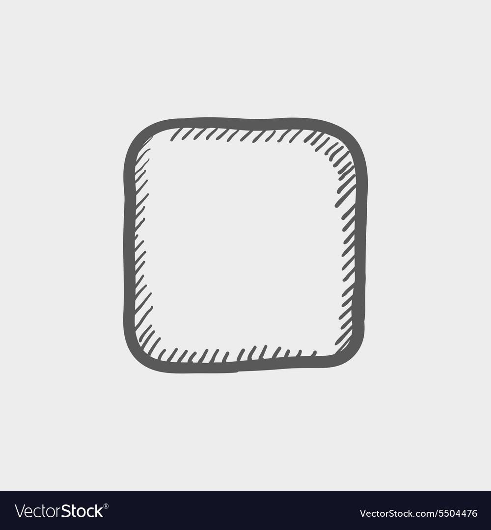 Stop button sketch icon