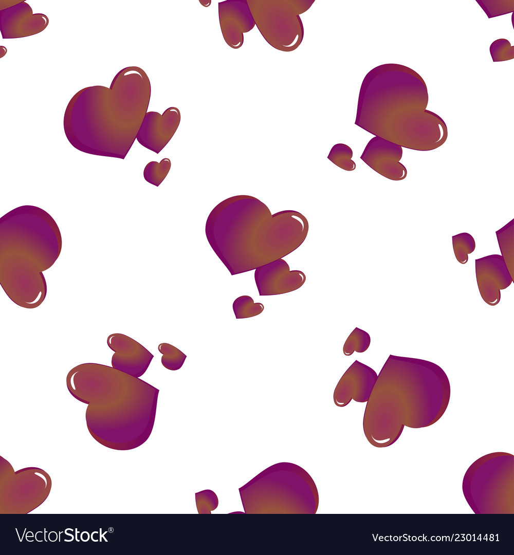 Abstract seamless pattern of hearts on white
