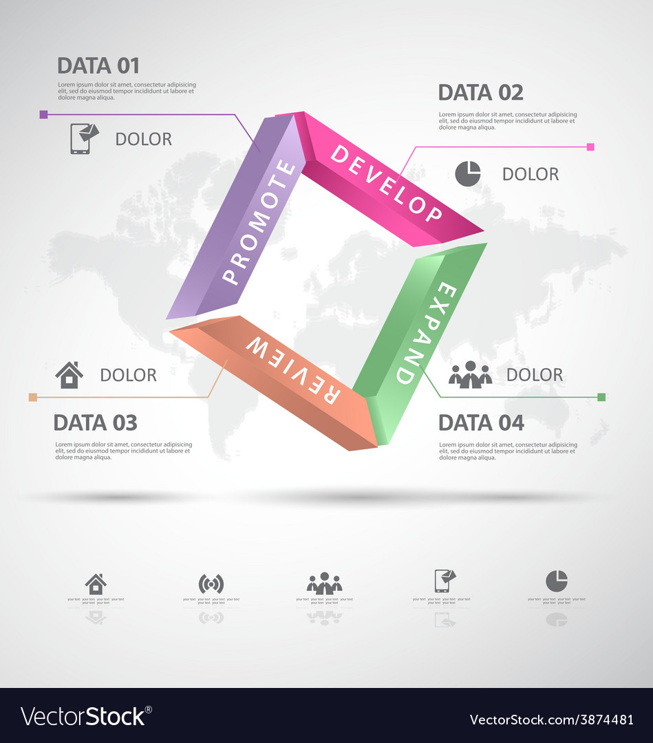 Infographic 3d data