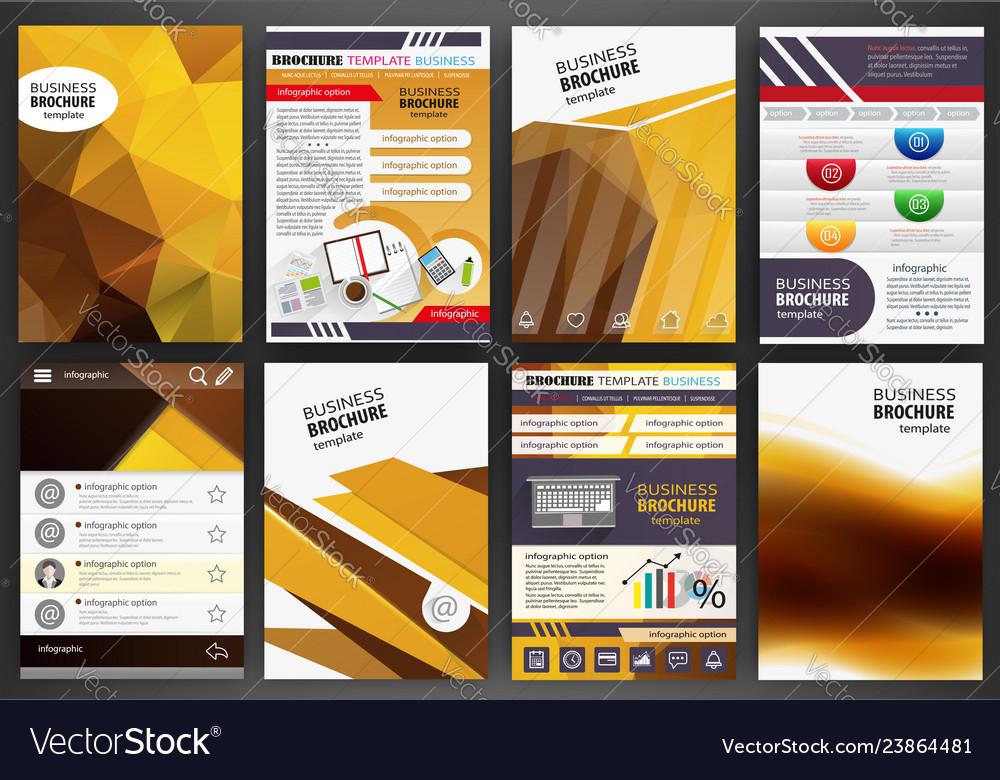 Orange brochure template abstract concept