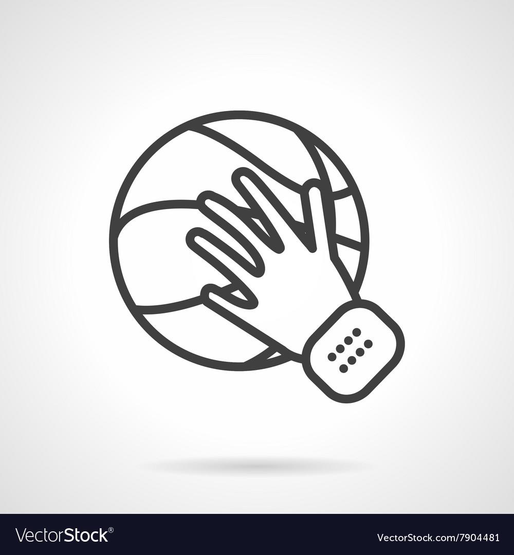 Play basketball black line design icon