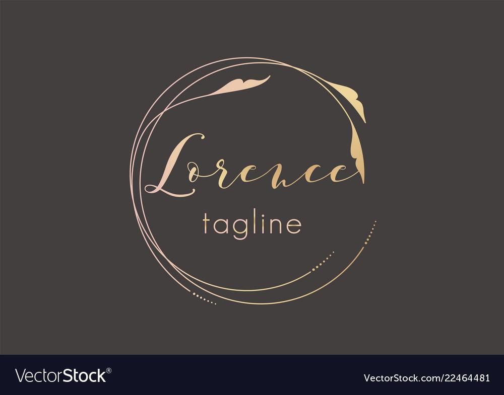 Premade golden logo design with minimalistic