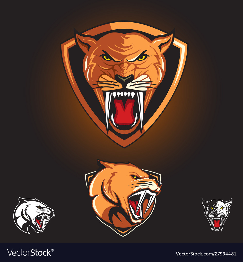 Saber tooth cat smilodon logo