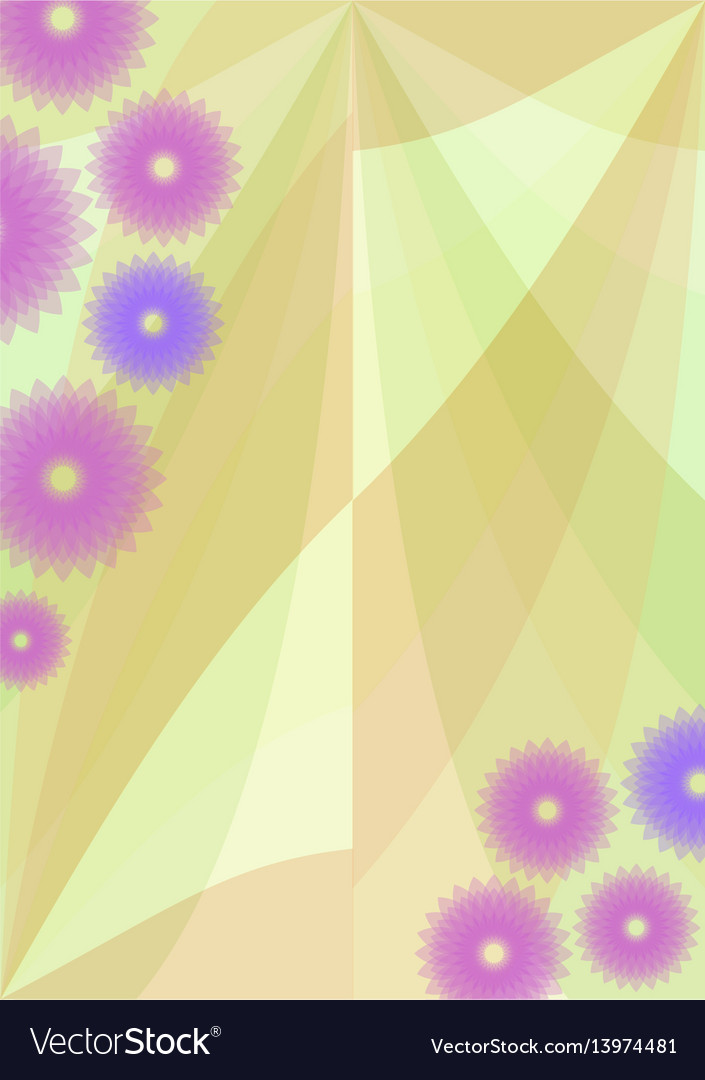 Spring background with cute purple flowers