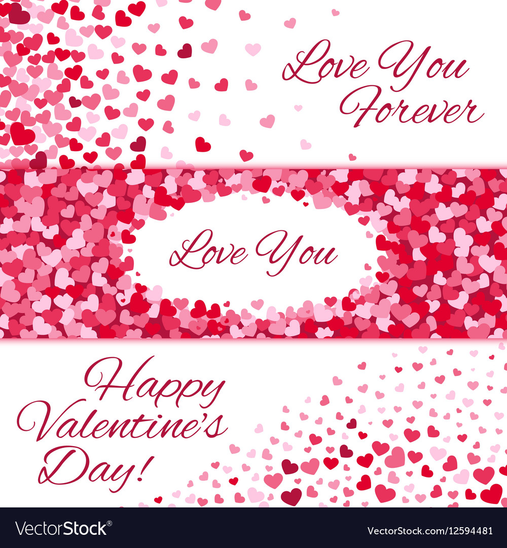 Valentines day sale love banners with