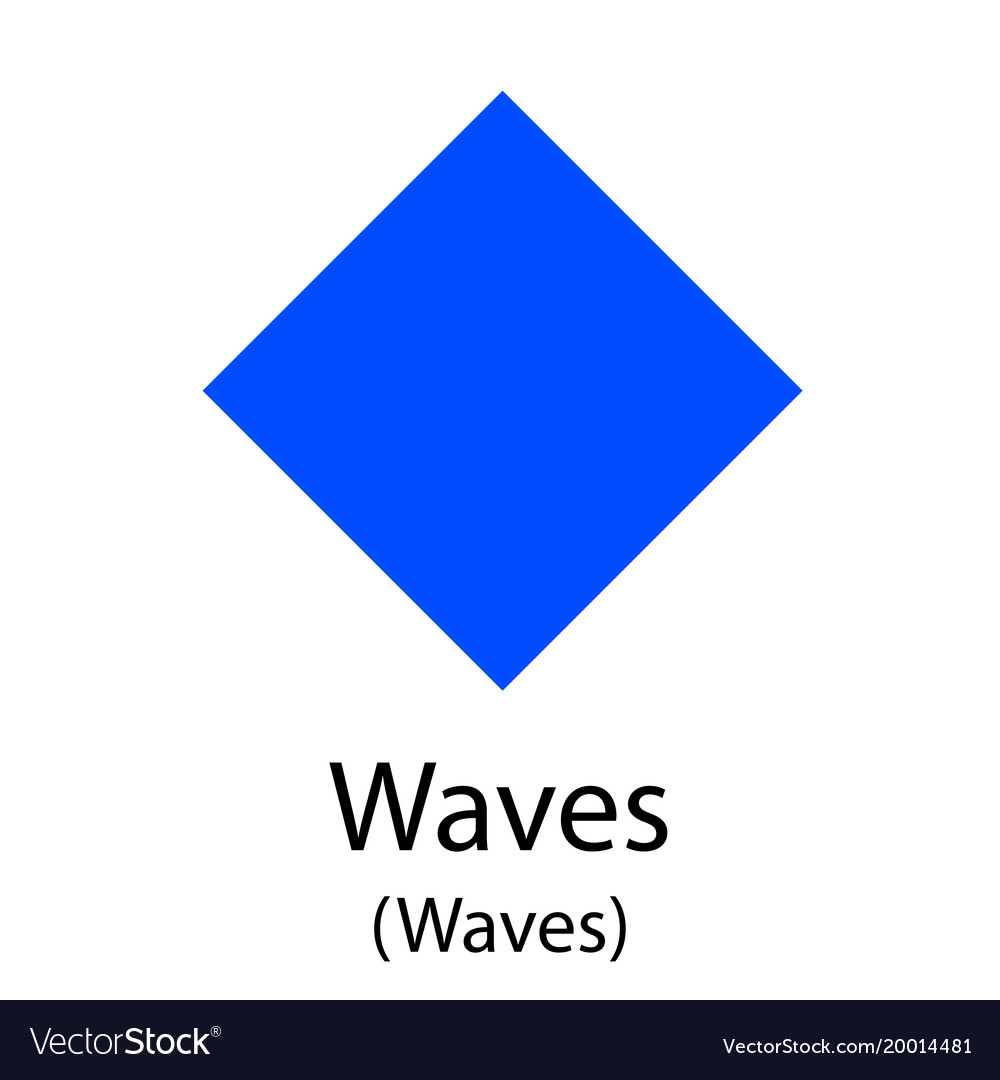 Waves cryptocurrency symbol vector image