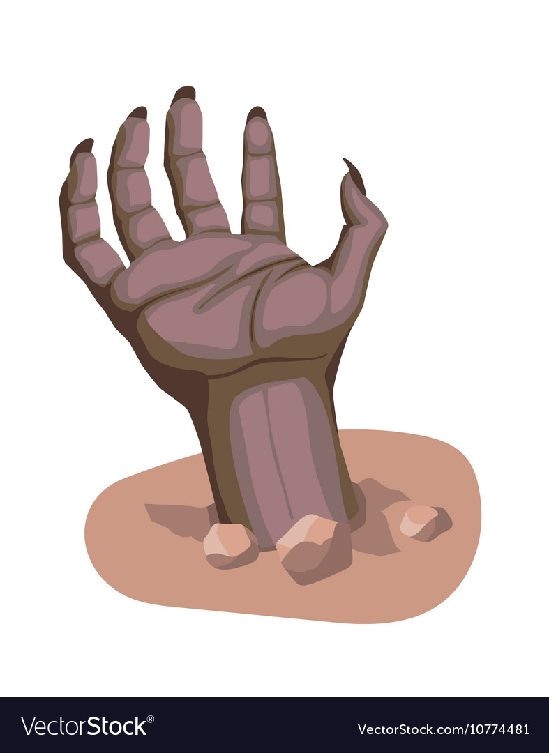 Zombie hand stylized cartoon