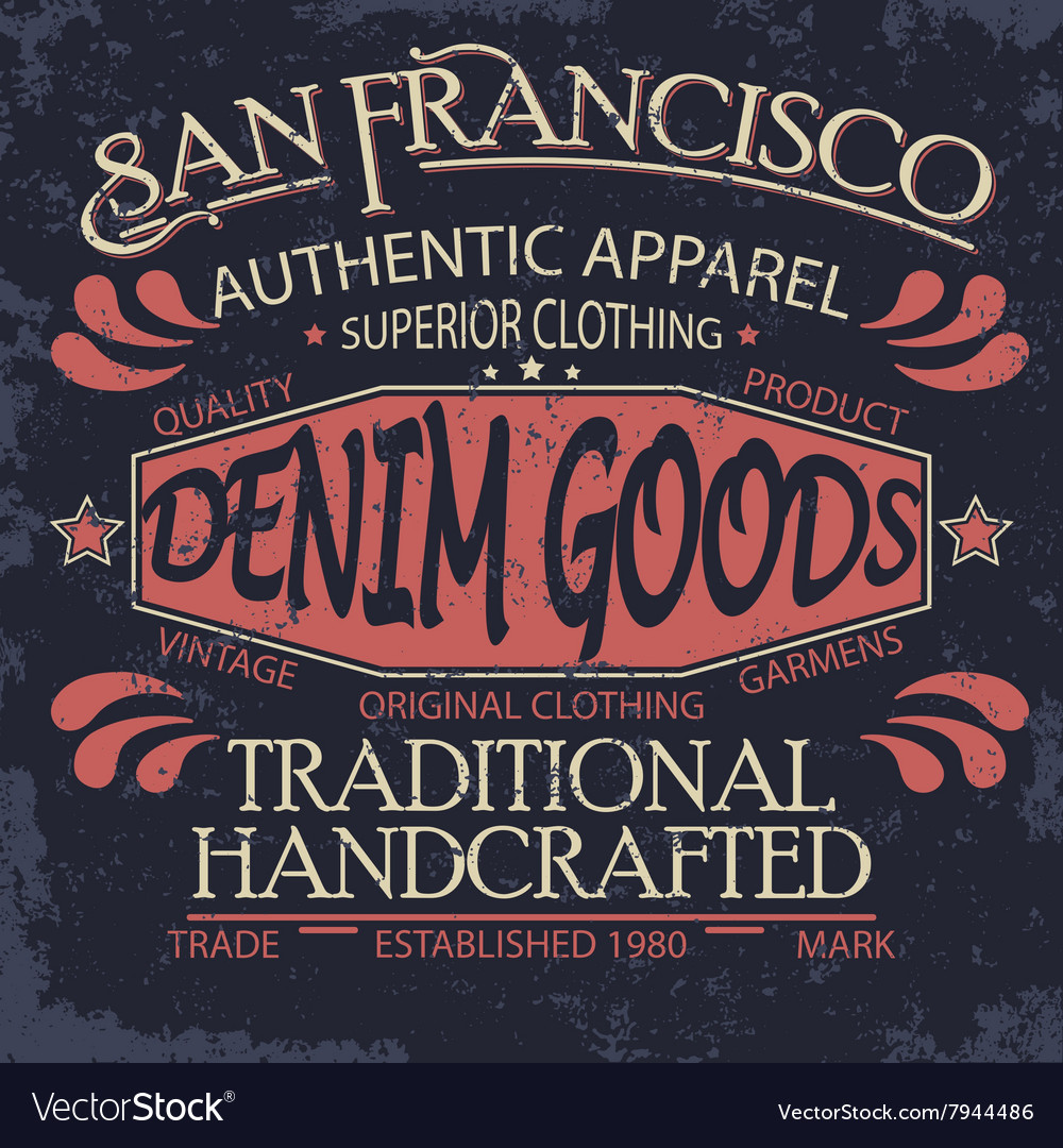Denim typography t-shirt graphics