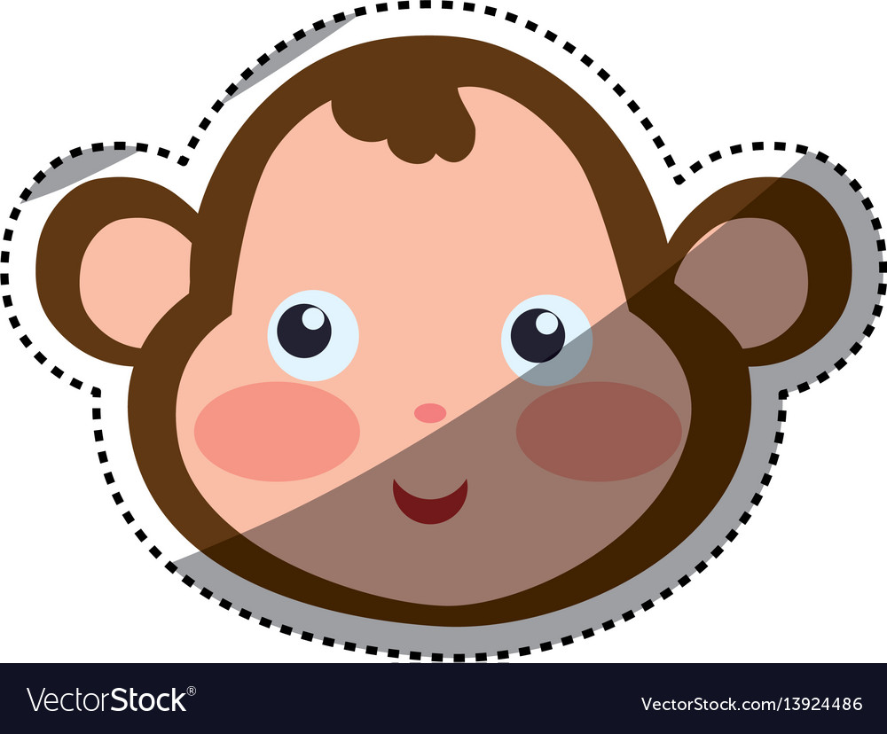 Monkey cartoon drawing head