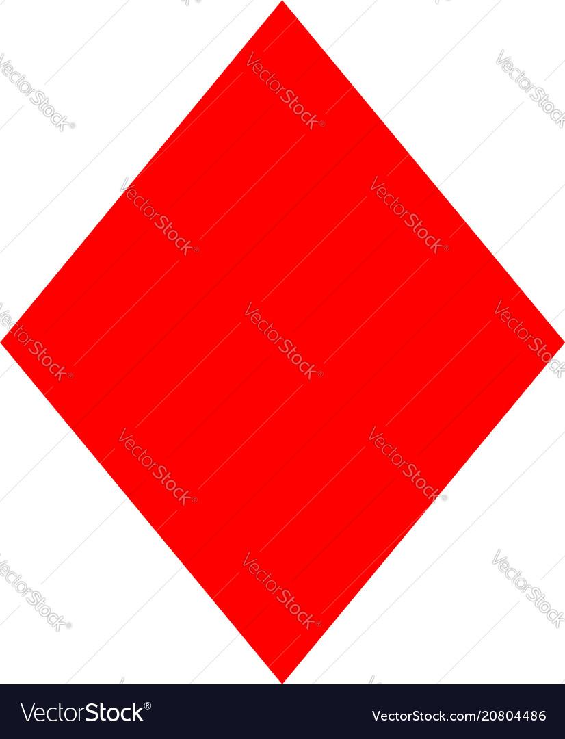 Rhombus icon elements of geometric figure vector image
