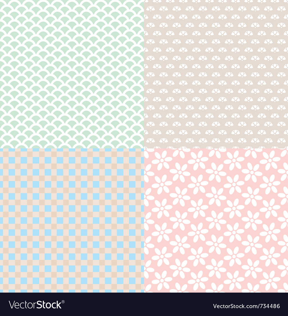 Set of simple cute backgrounds