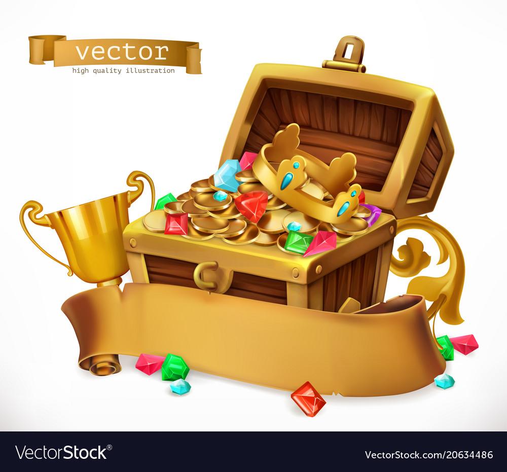 Treasure chest 3d icon