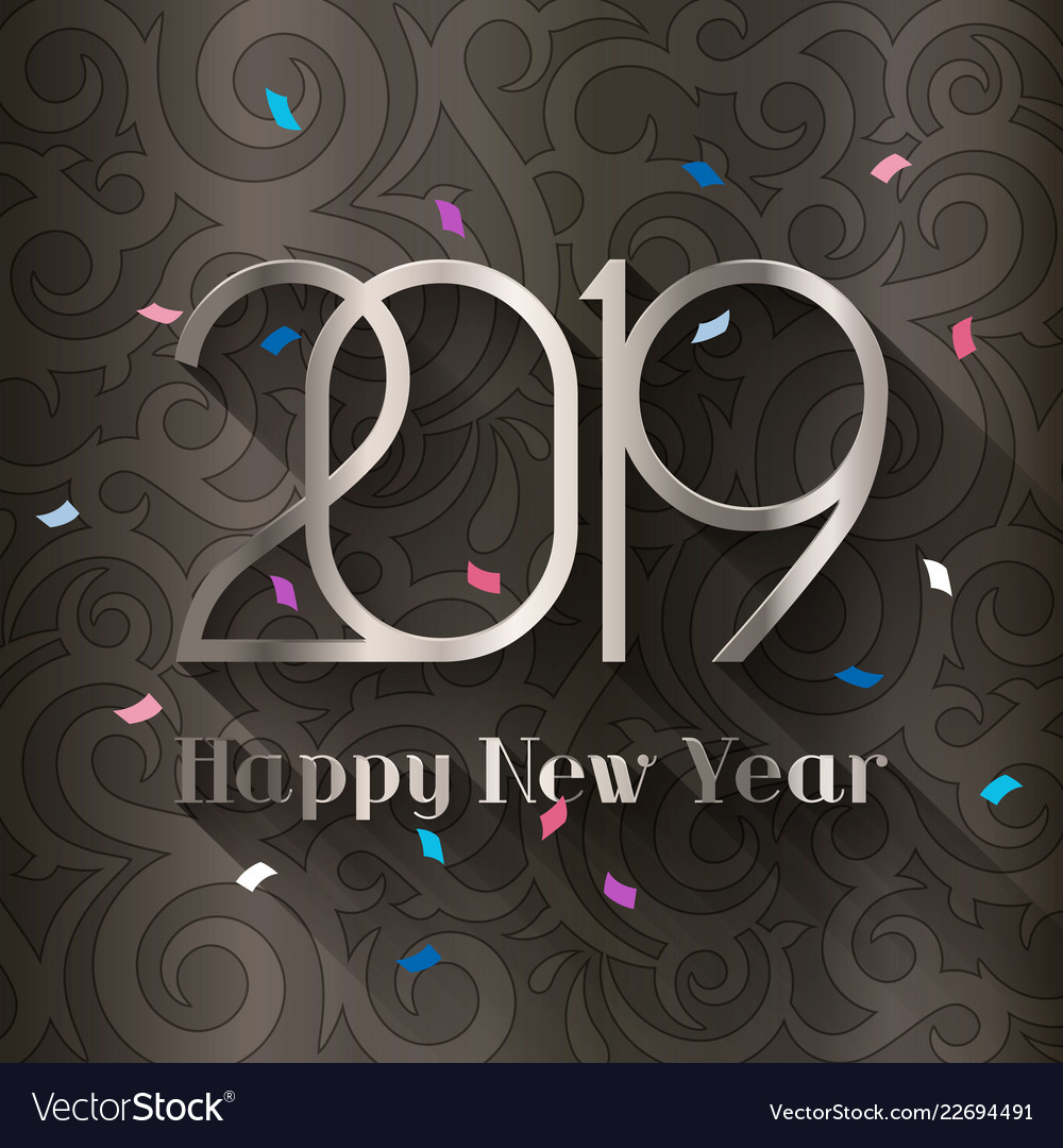 2019 happy new year design template