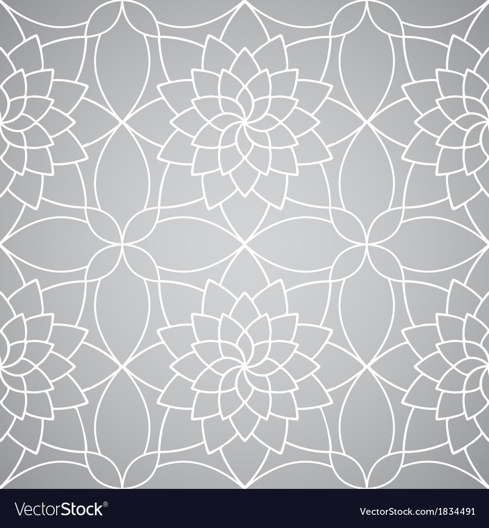 Abstract Floral Wallpaper Seamless Pattern Vector Image