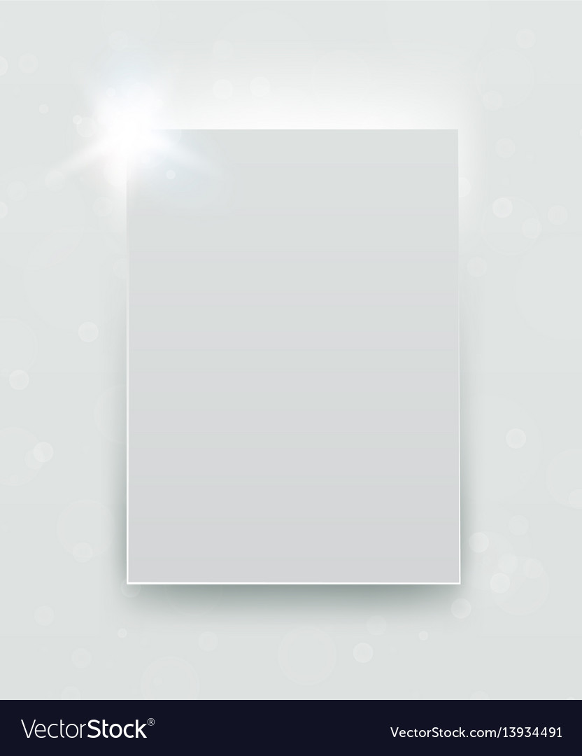 Abstract white paper frame banner or conceptual