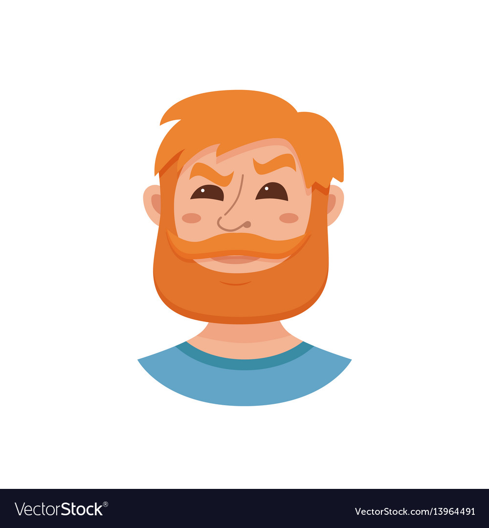Beard men facial expression