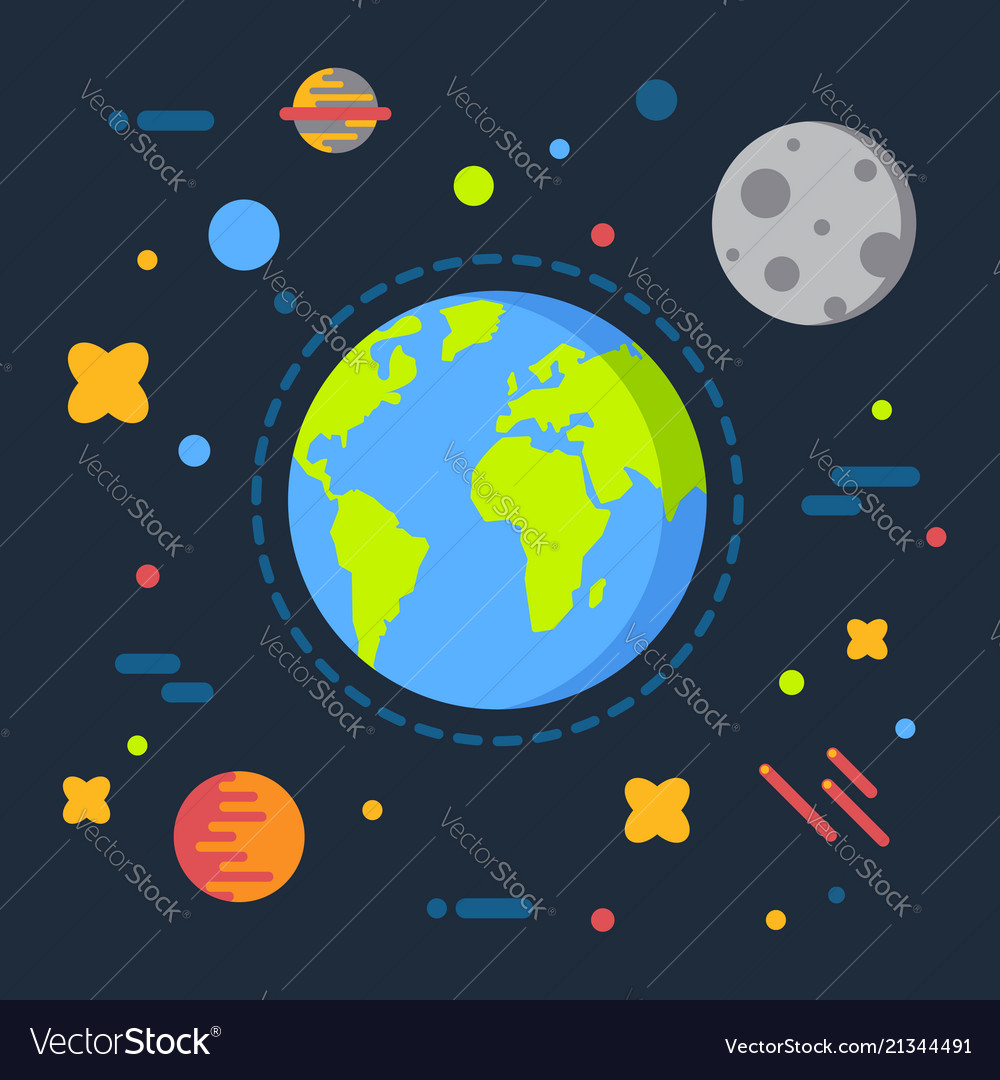 Earth in space solar system