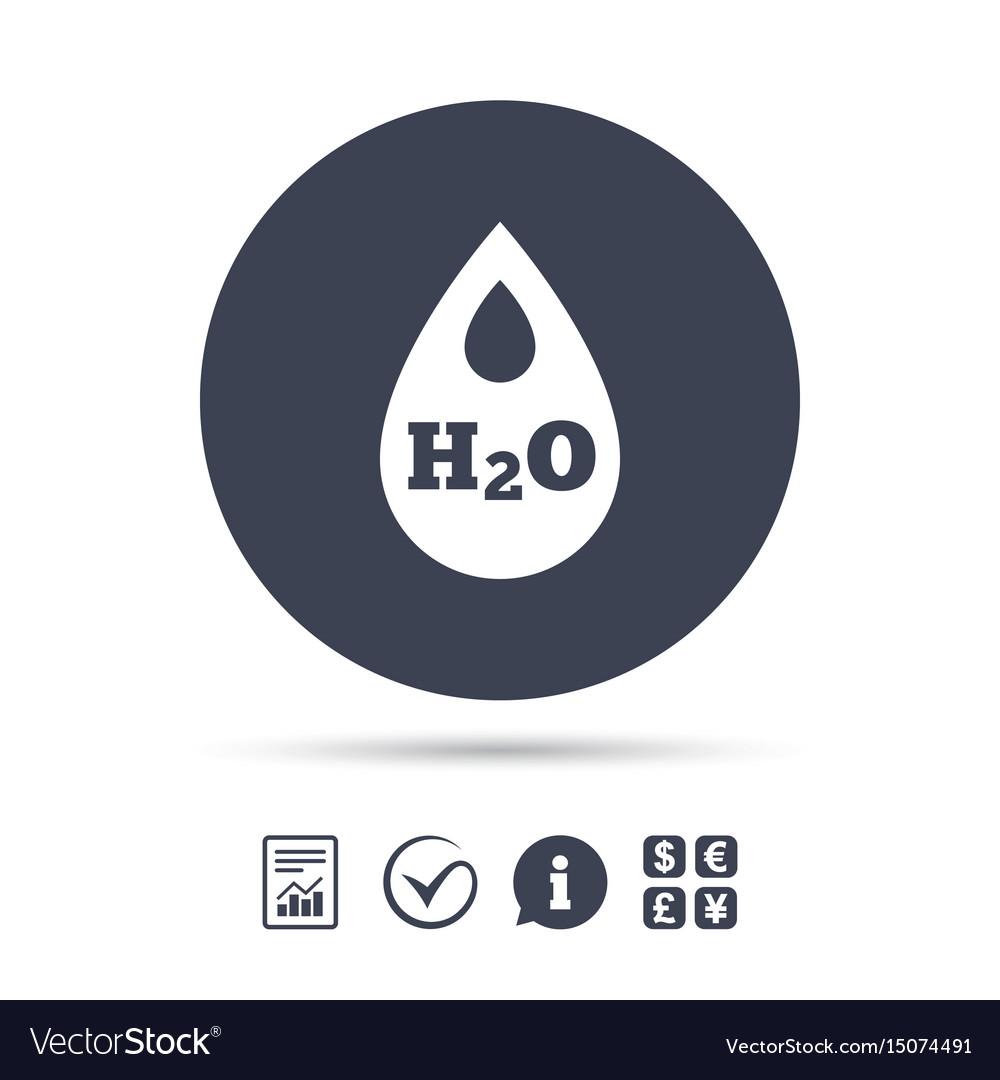 H2o water drop sign icon tear symbol
