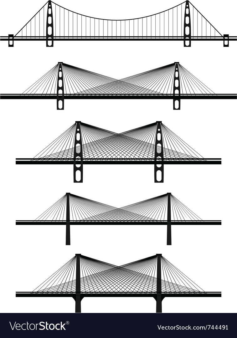 Metal cable suspension bridges