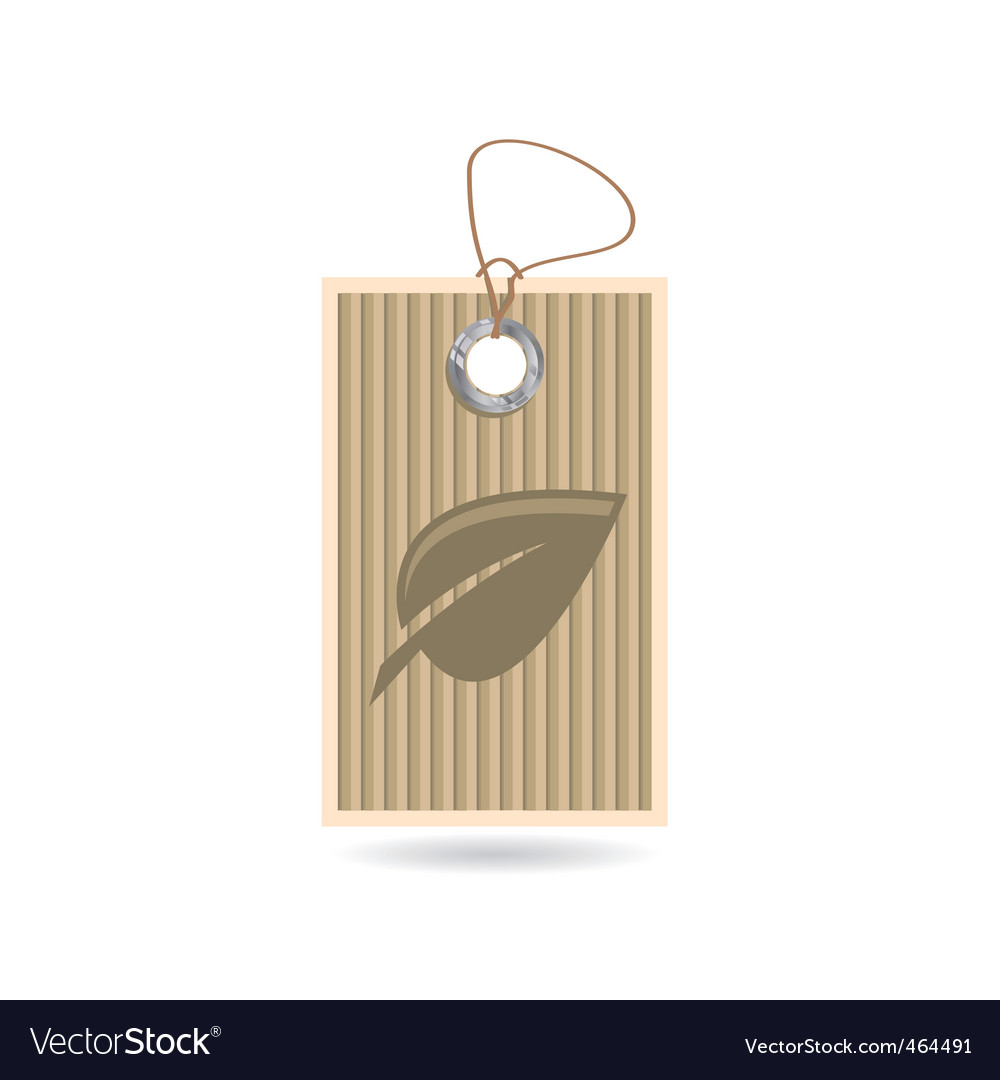 Tag with leaf vector image