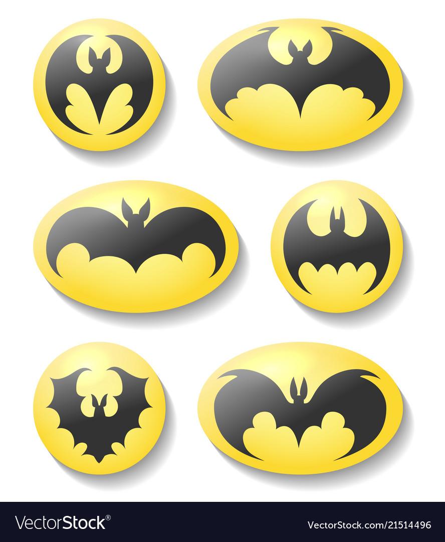 Bat buttons set