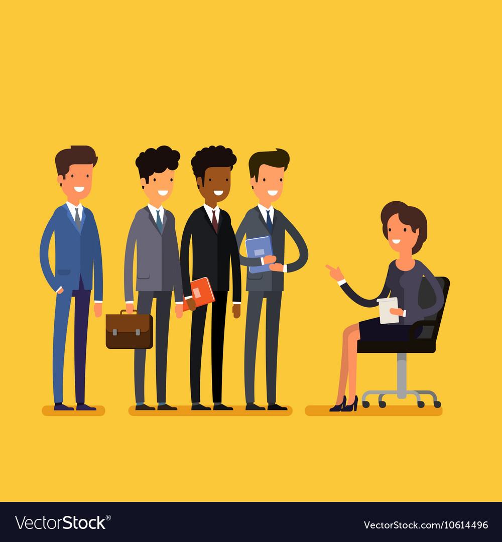 Business job interview concept