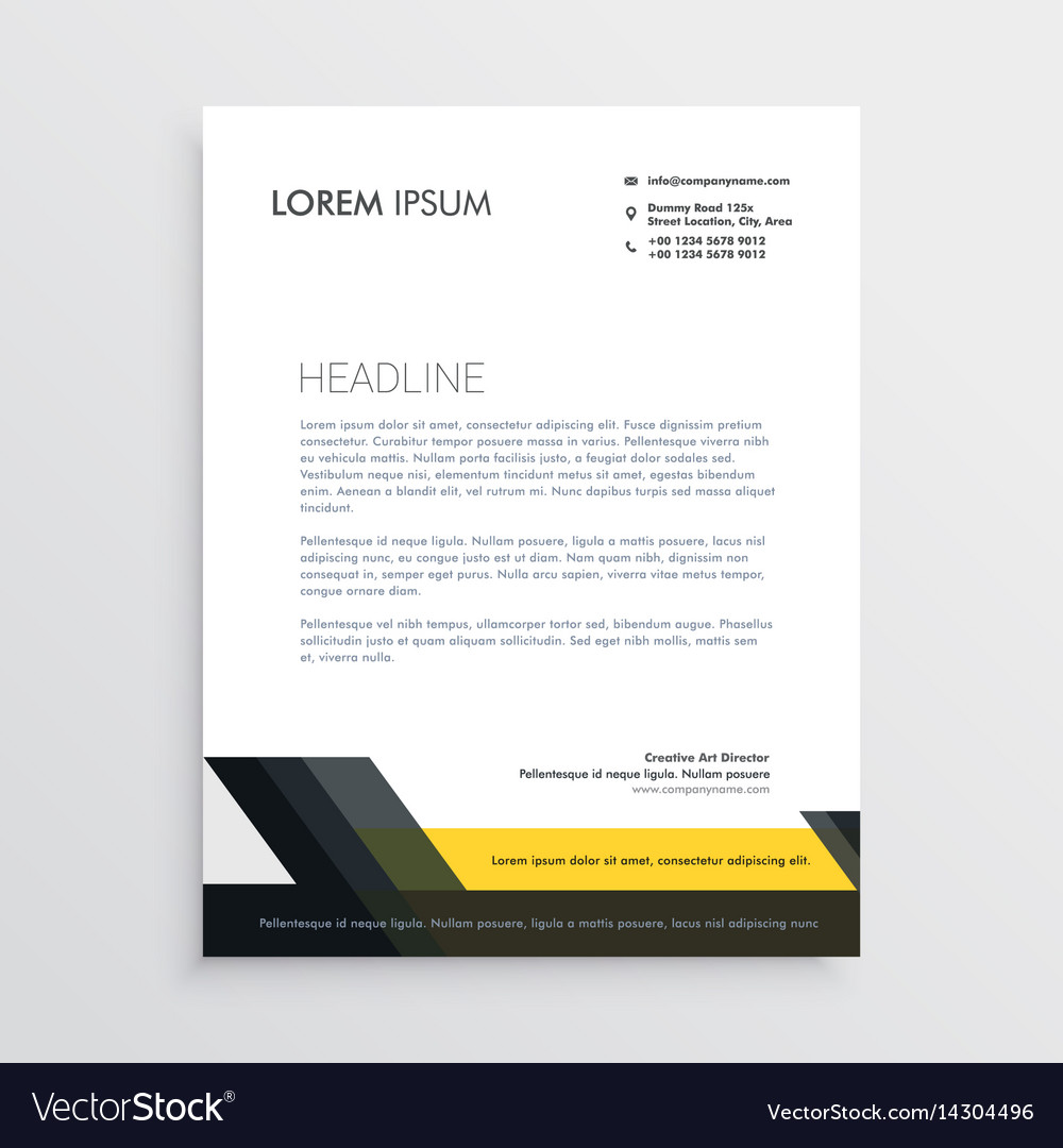business letterhead design template vector image