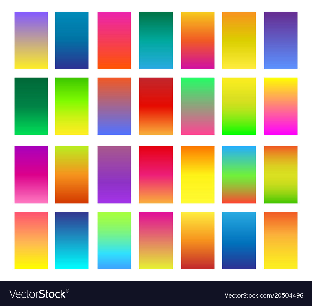 Color gradients set
