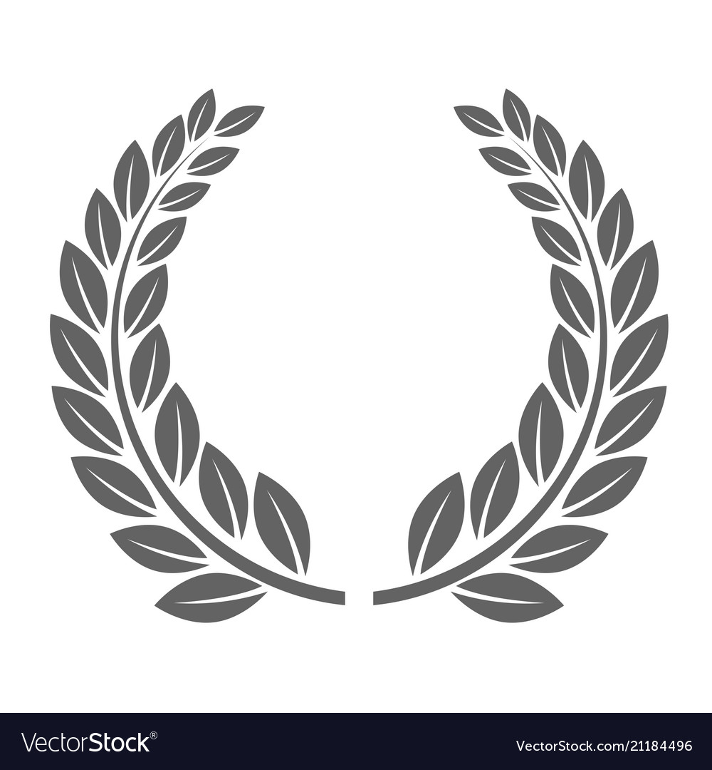 Laureate Wreath Glory Laurel Wreath Symbol Vector Image