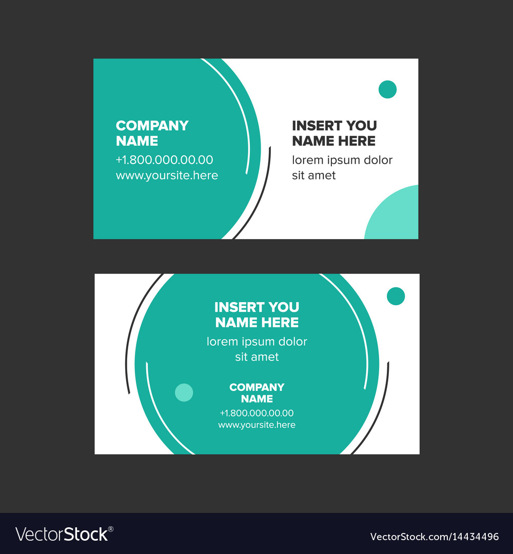 Minimalist Style Business Card Royalty Free Vector Image