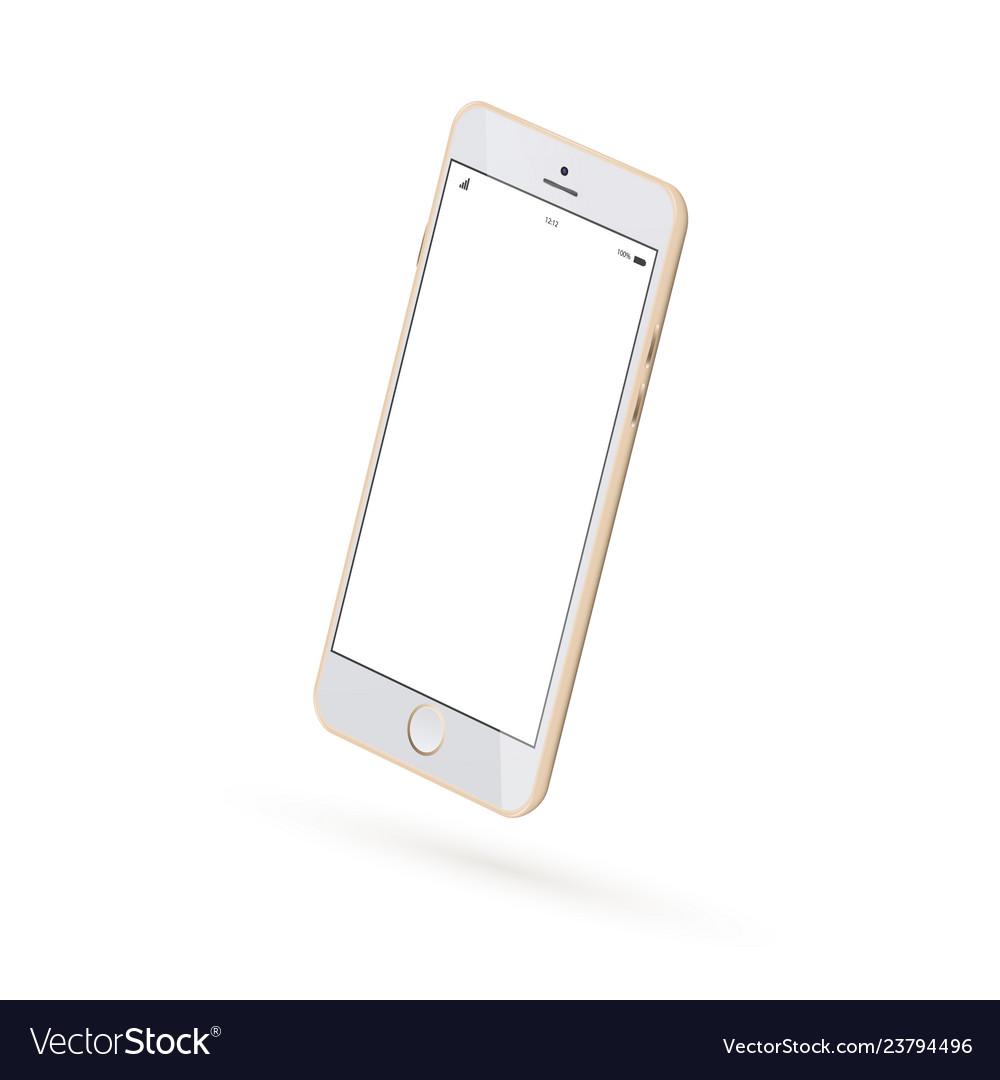 Realistic smartphone mock up